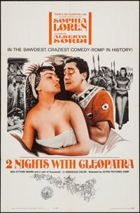 "Two Nights with Cleopatra & Other Lot (Ultra Film, 1964). One Sheets (2) (27"" X 41""). Foreign. ... (Total:..."