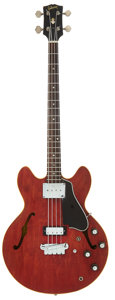 Musical Instruments:Bass Guitars, 1968 Gibson EB-2 Cherry Electric Bass Guitar, Serial # 894576....