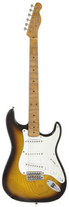 Musical Instruments:Electric Guitars, 1957 Fender Tele-Strat Sunburst Solid Body Electric Guitar, Serial# 027908....