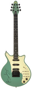 Musical Instruments:Electric Guitars, Brian May's 1984 Guild BHM-1 Sea Foam Green Solid Body ElectricGuitar, Serial # NBHM00262....