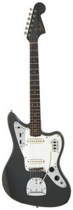 Musical Instruments:Electric Guitars, 1965 Fender Jaguar Charcoal Frost Solid Body Electric Guitar,Serial # L70908....
