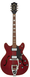 Musical Instruments:Electric Guitars, 1967 Guild Starfire V Cherry Semi-Hollow Body Electric Guitar,Serial # EN1694....