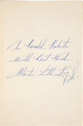 Autographs:Statesmen, Martin Luther King Jr. Book - Stride Toward Freedom -Inscribed...