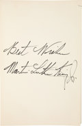 Autographs:Authors, Martin Luther King Jr. Book - Strength to Love - Inscribed...