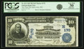 National Bank Notes:Missouri, Saint Louis, MO - $10 1902 Plain Back Fr. 624 First NB Ch. # (M)170PCGS Very Fine 30 Apparent.. ...