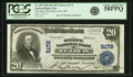 National Bank Notes:Missouri, Saint Louis, MO - $20 1902 Plain Back Fr. 658 The State NB Ch. #5172 PCGS Choice About New 58PPQ.. ...