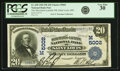 National Bank Notes:Missouri, Saint Louis, MO - $20 1902 Plain Back Fr. 658 The Merchants-LacledeNB Ch. # (M)5002 PCGS Very Fine 30.. ...