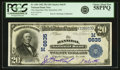 National Bank Notes:Missouri, Hannibal, MO - $20 1902 Plain Back Fr. 650 The Hannibal NB Ch. #(M)6635 PCGS Choice About New 58PPQ.. ...
