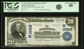 National Bank Notes:Missouri, Boonville, MO - $20 1902 Plain Back Fr. 658 The Boonville NB Ch. #(M)10915 PCGS Extremely Fine 40.. ...