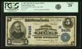 National Bank Notes:Missouri, Saint Louis, MO - $5 1902 Plain Back Fr. 600 The Central NB Ch. #(M)8455 PCGS Very Fine 20.. ...