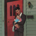 Pulp, Pulp-like, Digests, and Paperback Art, ROBERT MAGUIRE (American, 1921-2005). Fatherhood Fever!,paperback cover, 1998. Oil on board. 22.875 x 22.875 in.(sheet...