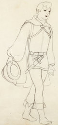 Animation Art:Production Drawing, Snow White and the Seven Dwarfs The Prince Animation Drawing(Walt Disney, 1937)....