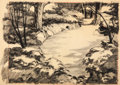 Animation Art:Production Drawing, One Meat Brawl Grover Groundhog's Home Background Drawing(Warner Brothers, 1947)....