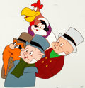 Animation Art:Production Cel, Bugs Bunny's Looney Christmas Tales Five-CharacterProduction Cel and Matching Color Model Drawing Group (WarnerBroth... (Total: 2 Original Art)
