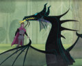 Animation Art:Production Cel, Sleeping Beauty Prince Phillip and the Dragon Production CelSetup (Walt Disney, 1959)....