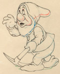 Animation Art:Production Drawing, Snow White and the Seven Dwarfs Sneezy Animation Drawing(Walt Disney, 1937)....