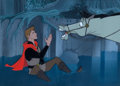 Animation Art:Production Cel, Sleeping Beauty Prince Phillip and Samson Production CelSetup (Walt Disney, 1959)....