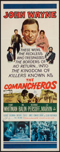 "Movie Posters:Western, The Comancheros (20th Century Fox, 1961). Insert (14"" X 36""). Western.. ..."