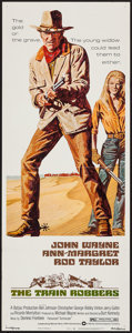 "Movie Posters:Western, The Train Robbers (Warner Brothers, 1973). Insert (14"" X 36"").Western.. ..."