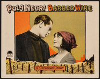"Barbed Wire (Paramount, 1927). Lobby Card (11"" X 14""). War"
