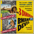 "Movie Posters:Adventure, Bwana Devil (United Artists, 1953). Six Sheet (77"" X 79"") 3-DStyle. Adventure.. ..."