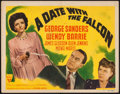 "Movie Posters:Mystery, A Date with the Falcon (RKO, 1941). Title Lobby Card (11"" X 14"").Mystery.. ..."