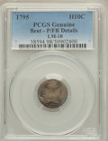 Early Half Dimes, 1795 H10C V-4, LM-10, R.3, -- Bent -- PCGS Genuine. Poor / FairDetails. ...
