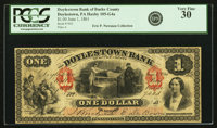 Doylestown, PA - Doylestown Bank of Bucks County $1 June 1, 1861 PA-105 G4a Hoober 89-2. PCGS Very Fine 30