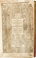 Books:World History, Edward Coke. The First Part of the Institutes of the Lawes ofEngland: or A Commentary upon Littleton. London, 1639....