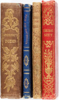 Books:Literature Pre-1900, [Literature] Group of Four Small Books of Literature. [Variouspublishers, 1841, 1849, 1853, 1874]. All are sixtyfourmos. Or...(Total: 4 Items)
