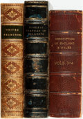 Books:Travels & Voyages, [English Travelogues] Group of Three Books. Includes: Gilbert White. The Natural History of Selborne. London: He... (Total: 3 Items)