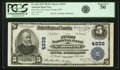 National Bank Notes:Missouri, Saint Joseph, MO - $5 1902 Plain Back Fr. 605 The First NB Ch. #4939 PCGS About New 50.. ...