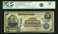 National Bank Notes:Missouri, Saint Louis, MO - $5 1902 Date Back Fr. 592 The Central NB Ch. #(M)8455 PCGS Very Fine 20.. ...
