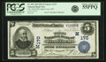 National Bank Notes:Missouri, Saint Louis, MO - $5 1902 Date Back Fr. 590 The Third NB Ch. #(M)170 PCGS Choice About New 55PPQ.. ...
