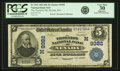 National Bank Notes:Missouri, Nevada, MO - $5 1902 Date Back Fr. 592 The Thornton NB Ch. #(M)9382 PCGS Very Fine 30 Apparent .. ...