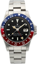 Timepieces:Wristwatch, Rolex Ref. 1675 Steel GMT-Master, circa 1968. ...