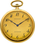 Timepieces:Pocket (post 1900), Touchon 18k Gold Ultra-thin Watch For Tiffany & Co.. ...
