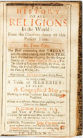 Books:Religion & Theology, William Turner. The History Of Religions In The World; From theCreation down to this Present Time. in Two Parts...To wh...