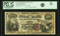 National Bank Notes:Missouri, Saint Louis, MO - $10 1882 Brown Back Fr. 490 The State NB Ch. #5172 PCGS Fine 12.. ...
