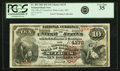 National Bank Notes:Missouri, Saint Louis, MO - $10 1882 Brown Back Fr. 484 The NB of CommerceCh. # 4178 PCGS Very Fine 35.. ...