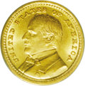 Commemorative Gold: , 1903 G$1 Louisiana Purchase/McKinley MS65 PCGS. Satiny and nearlymark-free, with a noticeable arc of characteristic grainy...