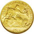 Commemorative Gold: , 1915-S $2 1/2 Panama-Pacific Quarter Eagle MS65 NGC. There are nodistracting abrasions on either side of this moderately c...