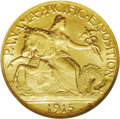 Commemorative Gold: , 1915-S $2 1/2 Panama-Pacific Quarter Eagle MS66 NGC. Especiallybright and lustrous in the fields and attractive. The strik...