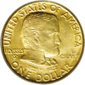 Commemorative Gold: , 1922 G$1 Grant With Star MS64 PCGS. A Choice coin that has pleasingluster in the fields and a trace of coppery-gold toning...