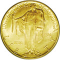Commemorative Gold: , 1926 $2 1/2 Sesquicentennial MS64 PCGS. An appealing mixture ofolive and pale golden toning embraces both sides of this de...