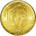 Commemorative Gold: , 1926 $2 1/2 Sesquicentennial MS65 PCGS. Pleasingly original, boththe obverse and reverse are awash in scintillating mint f...