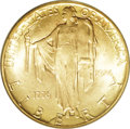 Commemorative Gold: , 1926 $2 1/2 Sesquicentennial MS65 PCGS. Appealing lemon-yellow andlilac highlights demonstrate the originality of this shi...
