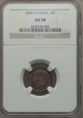 Canada: Victoria 10 Cents 1894 AU58 NGC
