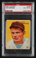 Baseball Cards:Singles (1930-1939), 1933 Goudey Tom Bridges #199 PSA EX-MT 6....