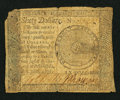 Colonial Notes:Continental Congress Issues, Continental Currency September 26, 1778 $60 Very Good.. ...